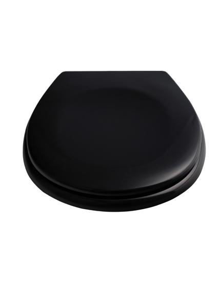 bd 6 wc sitz schwarz deckel klobrille mit absenkautomatik. Black Bedroom Furniture Sets. Home Design Ideas