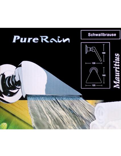 pure rain kopfbrause regenbrause schwallbrause mauritius von kirchhoff neu. Black Bedroom Furniture Sets. Home Design Ideas