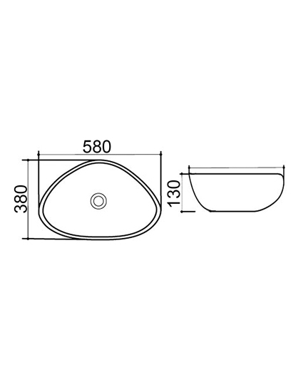 Znalezione obrazy dla zapytania Burgtal 17541 Design Keramik Aufsatz Waschbecken Handwaschbecken BKW-13 <