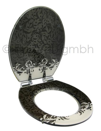 design wc sitz wc deckel klobrille mit absenkautomatik aus. Black Bedroom Furniture Sets. Home Design Ideas